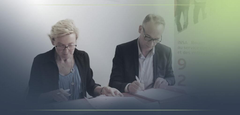 Enovea a signé un accord de partenariat avec l'INSA de Rouen Normandie en Juin 2017.